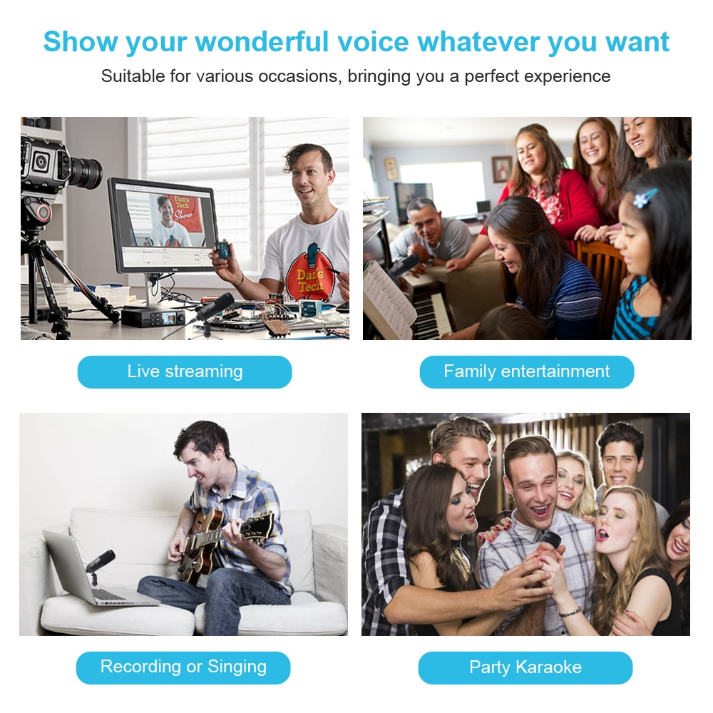 M1 PRO Streaming USB Microphone Metal Condenser Microphones for Laptop Computer Recording Studio Streaming enlarge