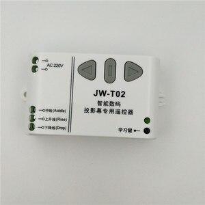 Image 3 - JW T02 AC 220 вольтным и Беспроводной дистанционного Управление переключатель с крышкой вверх/вниз единый трубчатый моторный контроллер Управление; Мотор передний задний TX RX с защелками