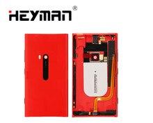 غطاء البطارية الإسكان ل نوكيا Lumia 920 الحافة عودة الغطاء الخلفي حالة الباب (مع جانبية قوة حجم زر تهمة موصل)