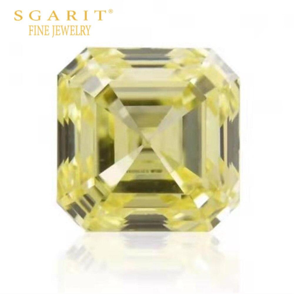 Joyas de diamantes de lujo para boda, de Dubái, hecho de joyas GIA VS1, amarillo elegante de 1,08 CT, Diamantes Sueltos naturales