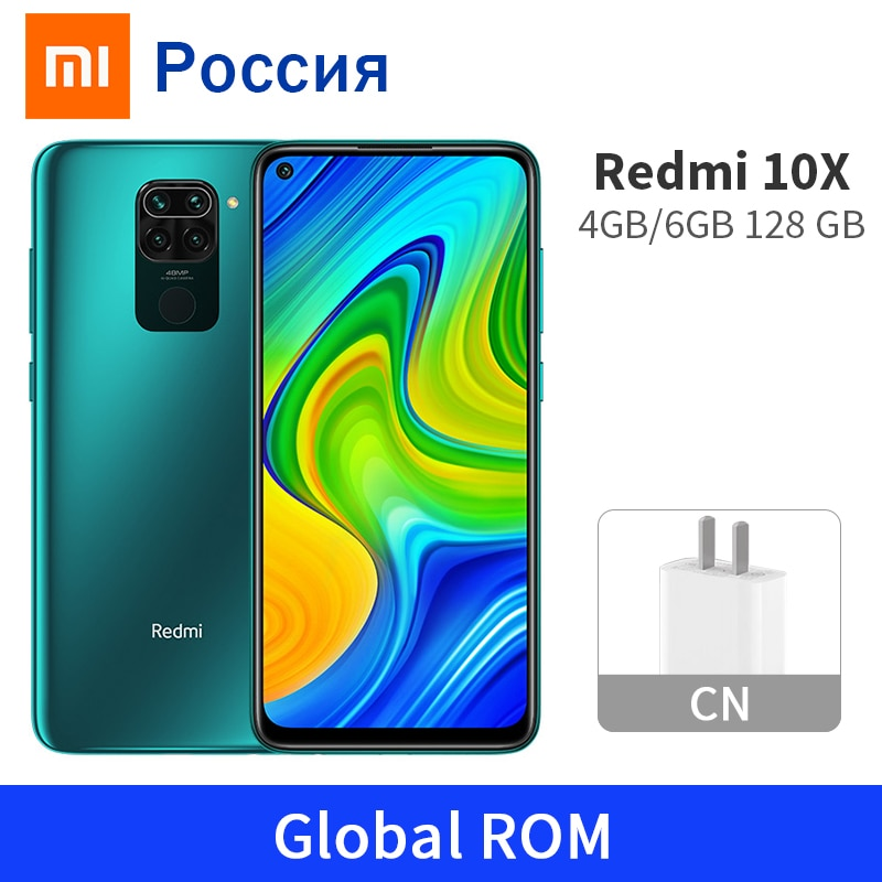 "Rom global xiaomi redmi 10x 4gb 128gb/6gb 128gb 10x4g telefone móvel 5020mah mtk helio g85 48mp quad câmera 6.53 ""tela cheia"