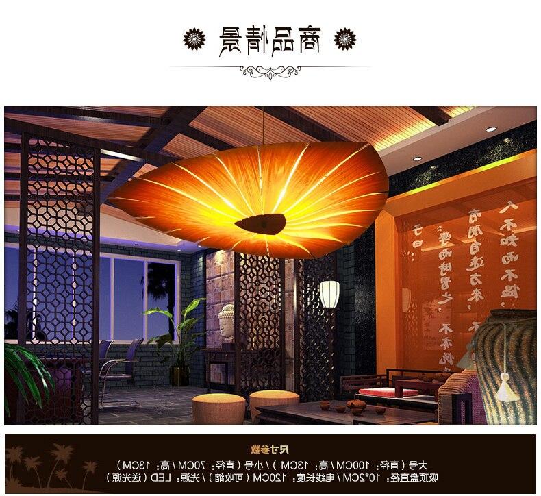 Lámpara Led colgante de madera, luminaria de suspensión, Art Bar, restaurante, sala...