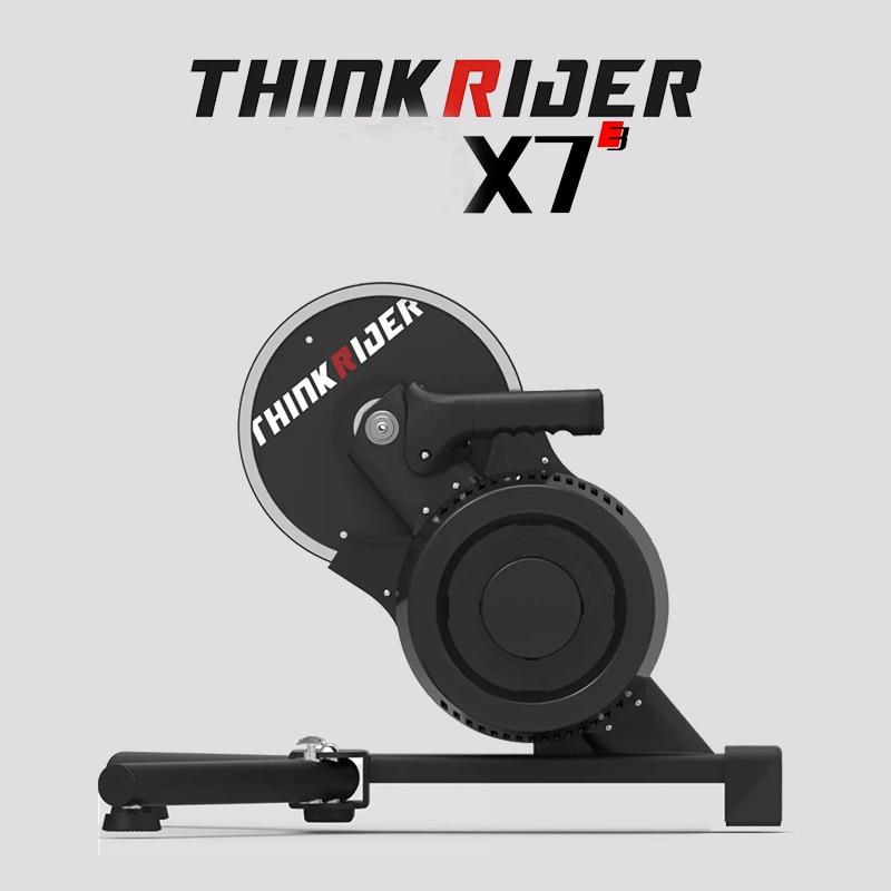 Thinkrider X7 3-Bicicleta de Montaña inteligente, para interiores y con potencia incorporada, entrenador y plataforma para bicicleta de montaña