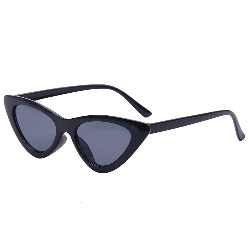 1PC New Vintage Black Cat Eye Sunglasses Women Fashion Brand Designer Mirror Small Frame Cateye Sung