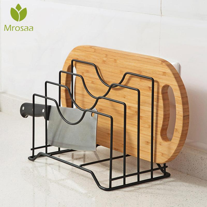 Prateleira da cozinha pan rack de armazenamento titular placa de corte pote tampa organizador shelfs acessórios cozinha aço inoxidável pote tampa rack