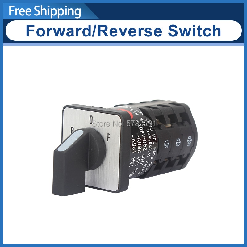 Interruptor de cambio ZH-A EN61058 motor de marcha atrás interruptor adelante y marcha atrás interruptor SIEG C3-181