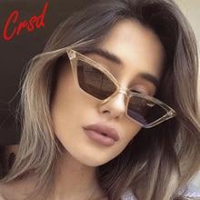 CRSD 2020 Fashion Cat Eye Sunglasses Women Small Triangle Vintage Streewear Retro Cateye Eyewear Sun