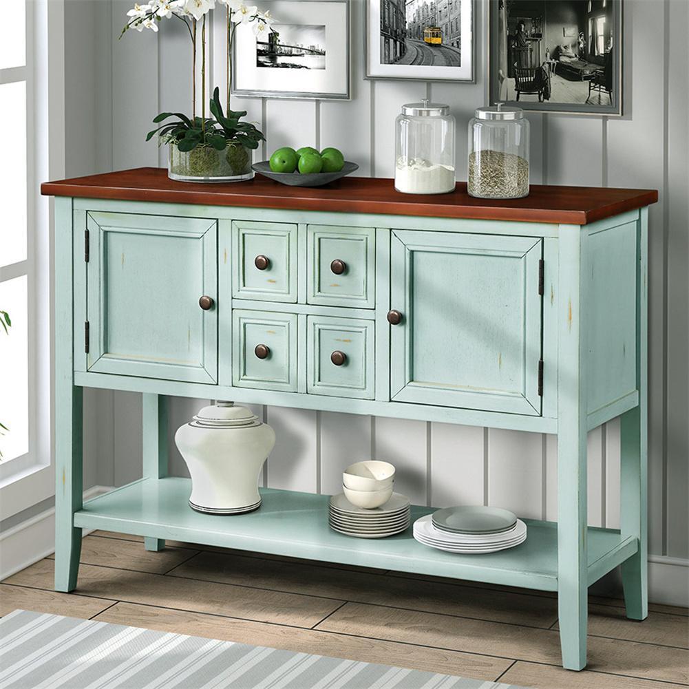 بوفيه طاولة جانبية طاولة وحدة التحكم مع خزانة الجرف السفلي مكتب أثاث المطبخ المنزلية