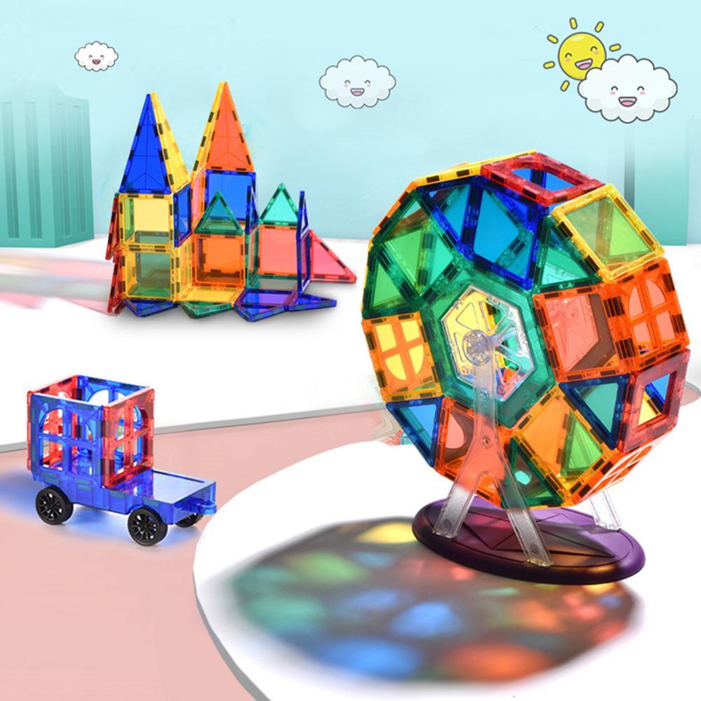 Azulejos magnéticos transparentes, Constructor magnético, bloques de construcción técnica para niños, niñas, juguetes, juguetes para niños, regalos