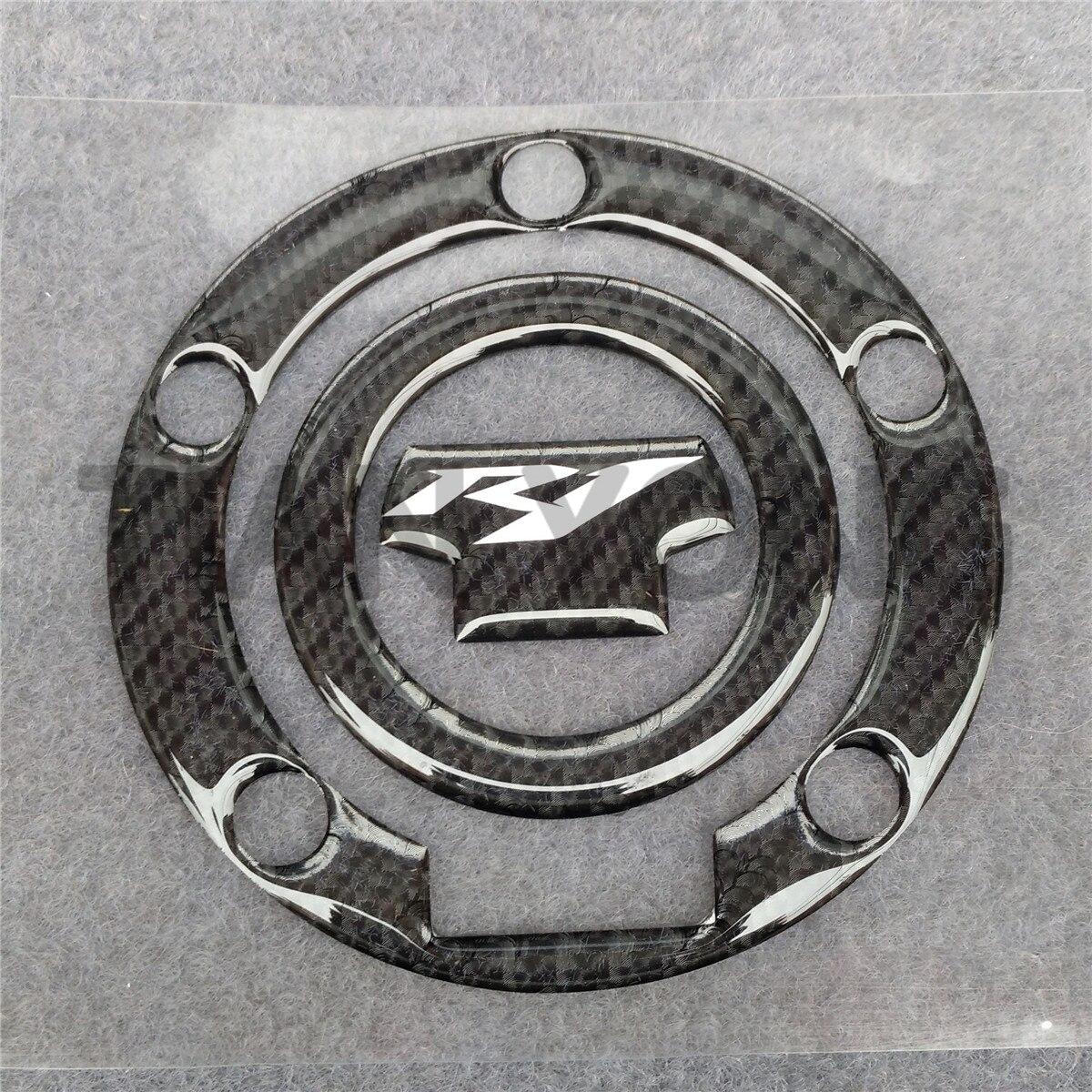 Para Yamaha YZF- R1 tanque Pad Tankpad Gas Cap Pad 3D resina de alta calidad pegatina negro carbón Brazing Protector decorativo