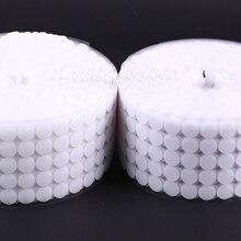 Bande adhésive auto-adhésive à points   100 paires de points, bande fixation 10/15/20/25mm disque, Velcros adhésif, colle forte, autocollant pièces rondes, boucle de crochet