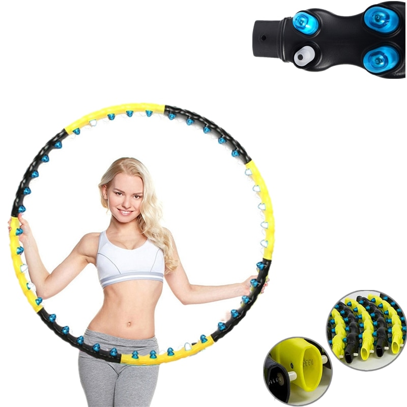 110cm Big Size 1.6kg Weighted Sport Hoops Magnet Massage Aro Fitness Losing Weight Woman Waist Trainer Workout Exercise At Home