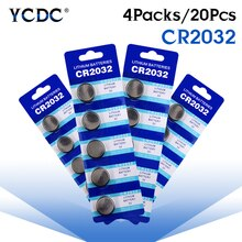 20 sztuk/partia CR2032 DL2032 ECR2032 CR 2032 2032 CR-2032 3V baterie litowe komórka przycisku bateria moneta na zegarek płyta główna