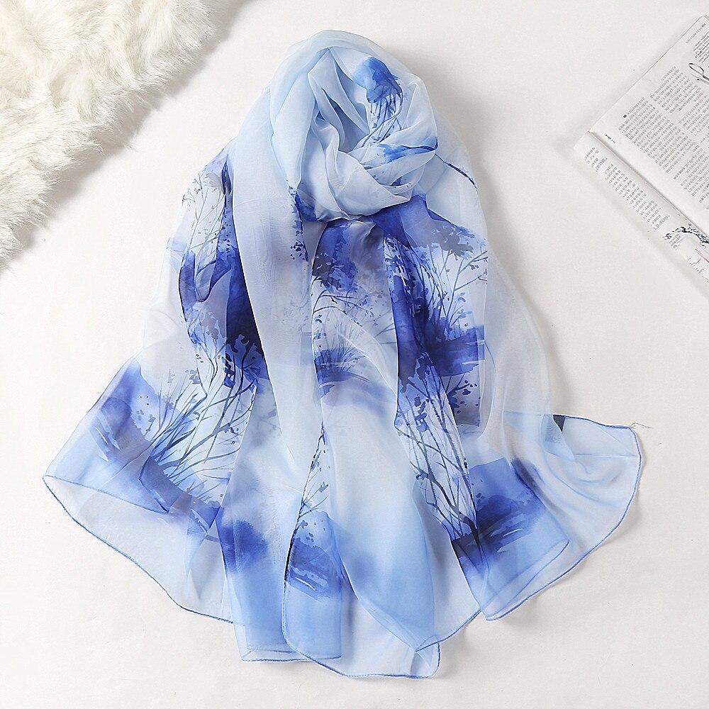 Fashion Printing Chiffon Scarves Silk Scarf Women 180*90cm Large Long Soft Sunscreen Scarf Scarves Wrap Beach Shawl Gift недорого