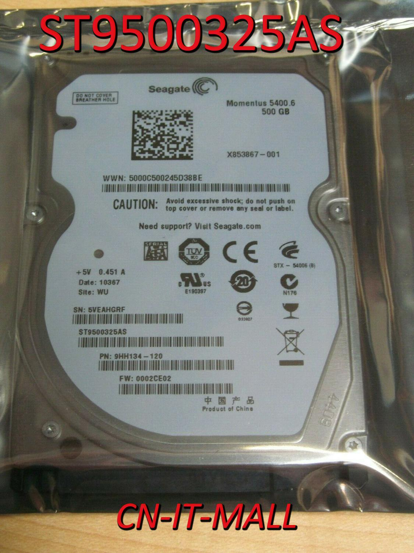 "Seagate Momentus 5400.6 ST9500325AS 500GB 5400 RPM 8MB Cache SATA 3.0Gb/s 2.5"" Internal Notebook Hard Drive"