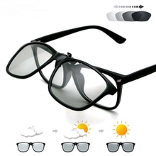 2021 Polarized Pilot Flip Up Clip on Sunglasses Men Photochromic Polarised Women Sun Glasses Color C