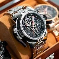 reef tigerrt top brand sport automatic stainless steel men fashion mechanical bracelet waterproof watches rga3591