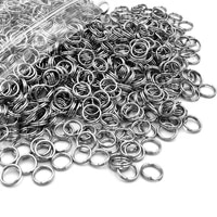 100Pcs Latest Stainless steel double circle horse small key ring hemp seed times key ring parts