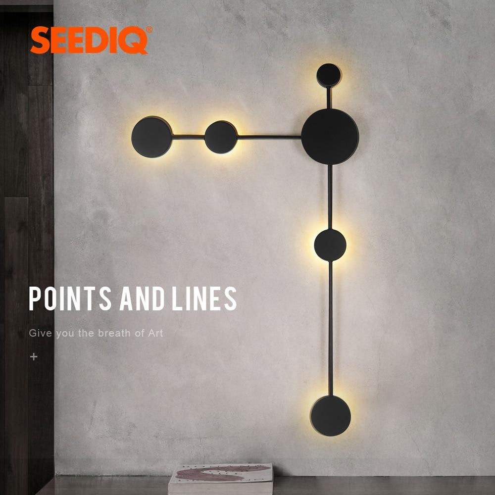 Современный Креативный светодиодный настенный светильник для дома, гостиной, настенное бра, светильник с регулируемой яркостью, 3 цвета, ко...