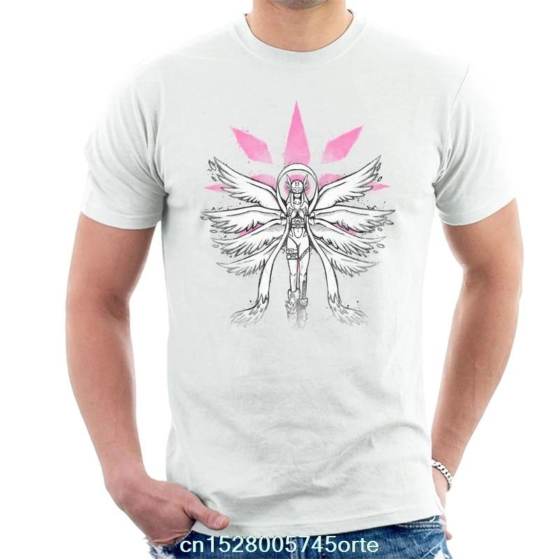Printed funny 2020 camiseta Digimon Angewomon Grafitti Angel of Light Mens T-Shirt 100% cotton women tee shirt