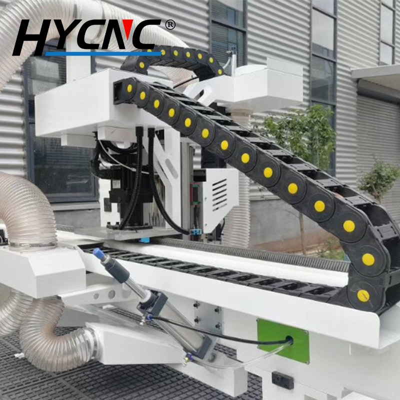 Woodworking Cutting Machine Push Frame CNC Dust Suction Cleaning Cylinder Pusher Device Caliber 98mm Forward And Backward Push enlarge