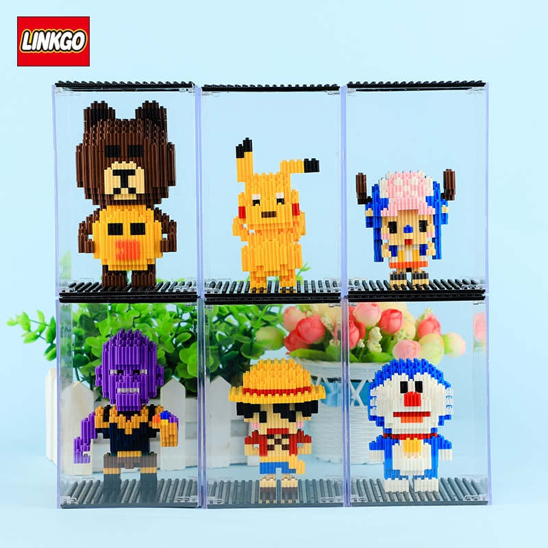 LINKGO Building Acrylic Transparent Display Box Dust Cover Joint Height Building Block in Series Special Accessories acrylic plastic action figures princess starwars avengers display case box dustproof display box loz building block bricks toys