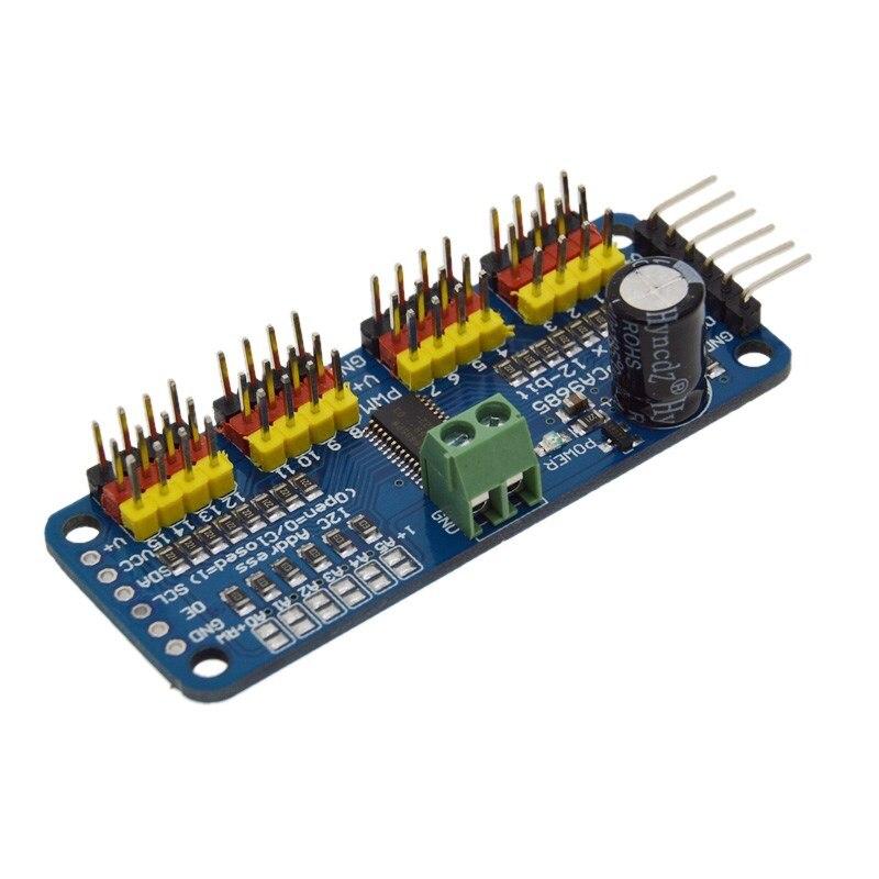 16-канальный 12-битный PWM Servo Driver-I2C интерфейс PCA9685 модуль для arduino для Raspberry pi щит модуль servo shield
