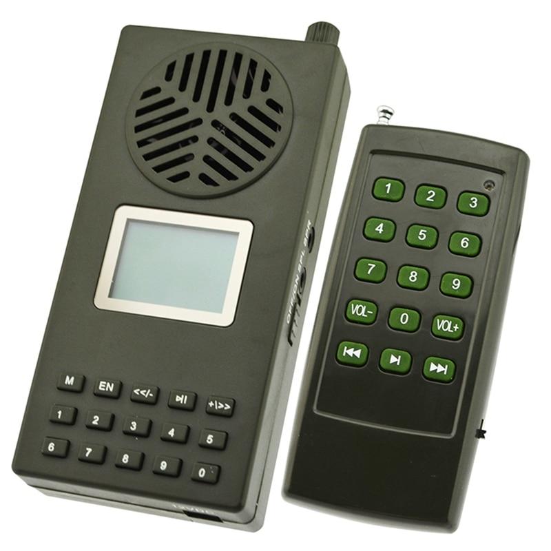 إغراء صيد الإوز والبط والطيور ، مكبر صوت مع جهاز تحكم عن بعد ، مشغل Mp3 بمقبس أوروبي ، 157 صوت