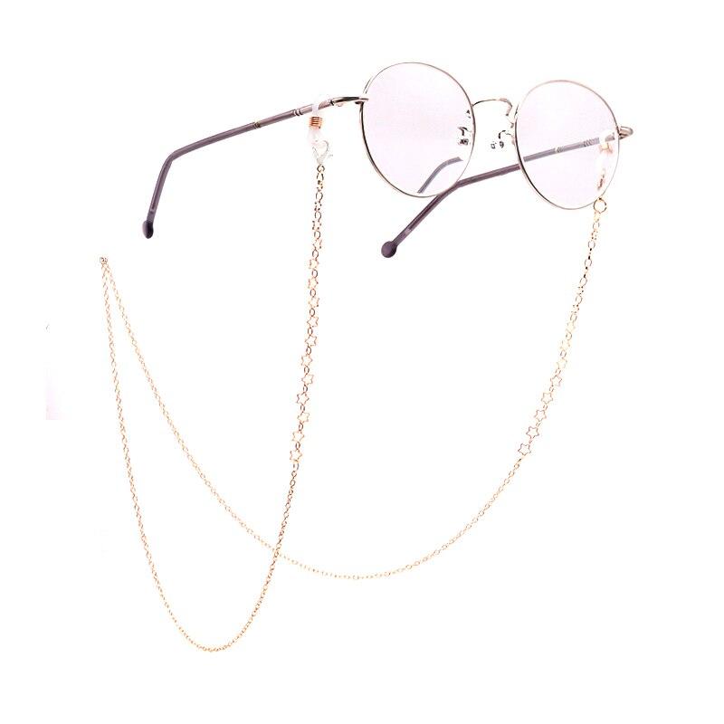 Color_max moda chique ouro prata óculos correntes óculos de sol óculos de leitura corrente óculos de sol contas acrílicas correntes