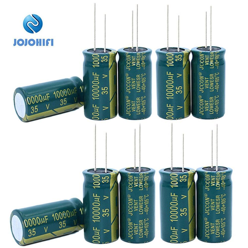 JCCON 35V, 100 UF, 10000UF, 35V, 18x35mm, inclinación de 10000mm, 7,5 ℃, Capacitor electrolítico de alta frecuencia de baja resistencia de aluminio 10 Uds.-105 Uds.