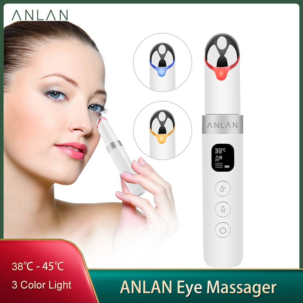ANLAN Eye Massager Electric Vibration Rejuvenation Anti-Ageing Wrinkle Dark Circle Removal Portable Beauty Eye Face Care pen