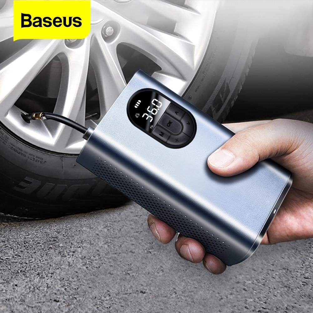 BASEUS Inflador de neumáticos de 12V eléctrico portátil.