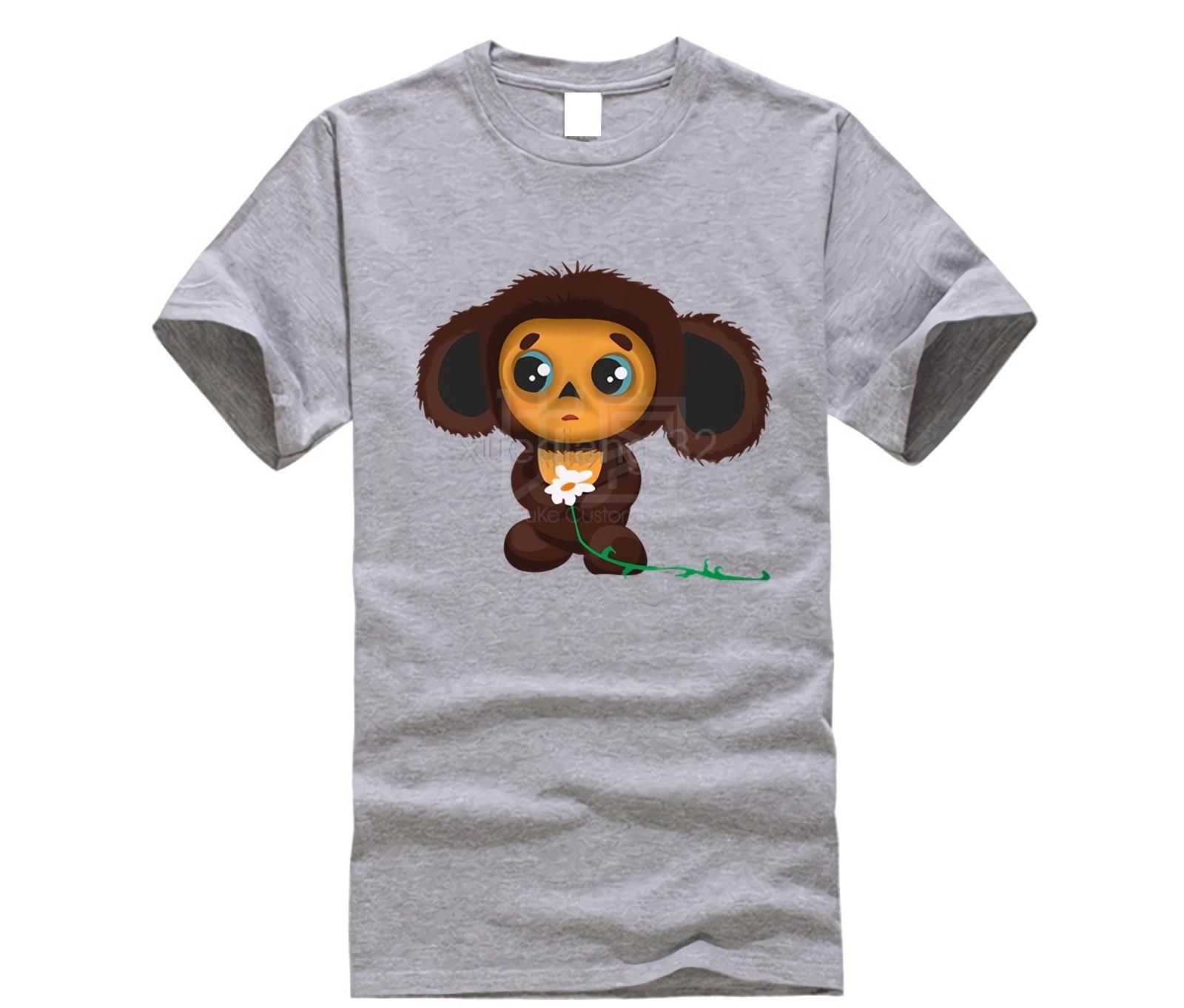 Szczegółowe informacje zwrotne pytania na temat Cheburashka męska koszulka z nadrukiem bawełniana luźna koszulka