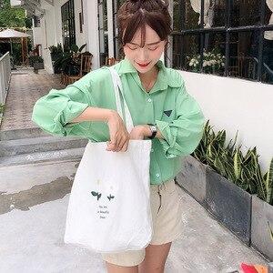 Big sizes flower canvas bag single shoulder bag large capacity student female bag eco cotton bag canvas bag women
