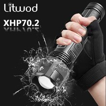 High Quality XHP70.2 Tactical Hunting Led Flashlight Power by 18650 AAA Battery Usb Rechargeable Torch Zoomable XHP50.2 Lantern
