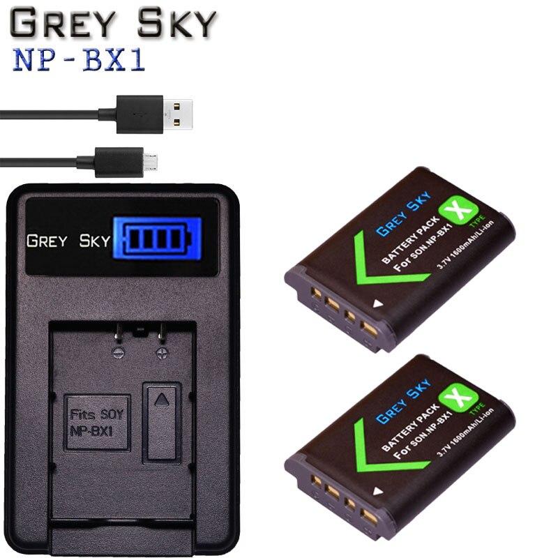 2x Para SONY npbx1 np bx1 Bateria Para Sony FDR-X3000R NP-BX1 RX100 RX100 M7 M6 AS300 HX400 HX60 WX350 AS300V HDR-AS300R FDR-X3000