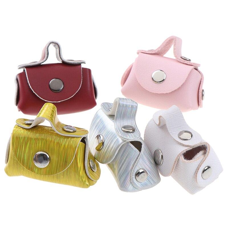 Accesorios para muñeca de moda 1/6, bolso para muñeca bolso de cuero señora, accesorios para bolsos, casa de muñecas, juguete para niños, 5 colores