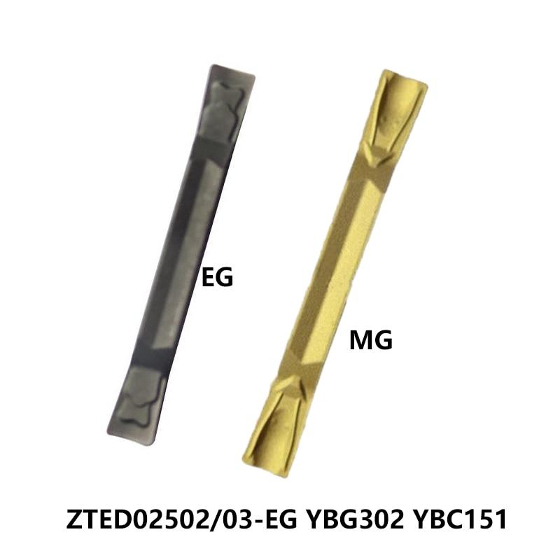 ZTED02502-EG الأصلي YBG302 ZTED02503-MG YBC151 ZTED 02502 02503 أدوات تقطيع المخرطة تحول كربيد التصنيع باستخدام الحاسب الآلي قطع