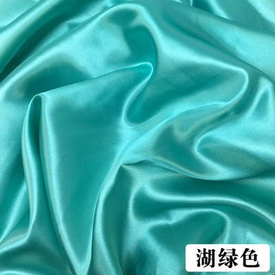 Satin fabric silk soft spandex satin fabric for sewing vintage flowers imitate silk material elastic stretch satin fabric