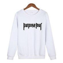 Justin Bieber Hip Hop Skateboard männer Sweatshirt (Justin Bieber) Zweck Tour Trasher Sweatshirt 2020 Neue Kommen