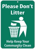please dont litter help keep your community clean safety pet gift retro metal tin sign plaque poster wall decor art shabby
