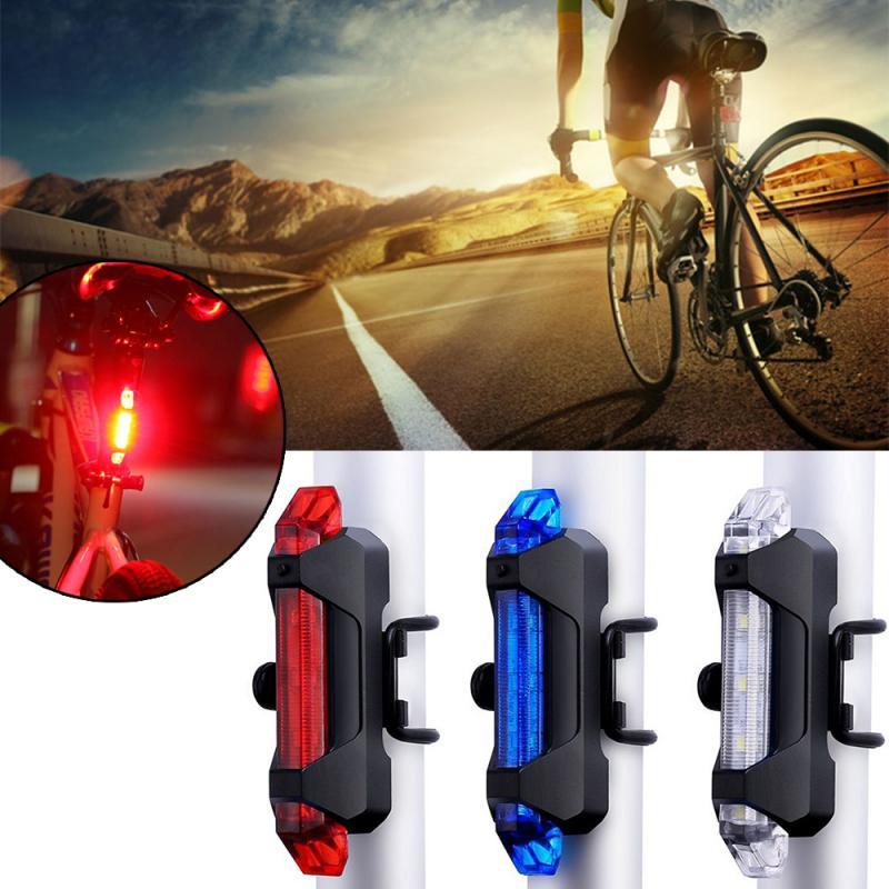 Luz LED trasera de bicicleta, advertencia de seguridad trasera, luz de ciclismo portátil, recargable por USB, accesorios de bicicleta TSLM2