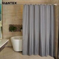 Водонепроницаемая занавеска для душа GIANTEX занавеска для ванной из полиэфира серого цвета для ванной комнаты