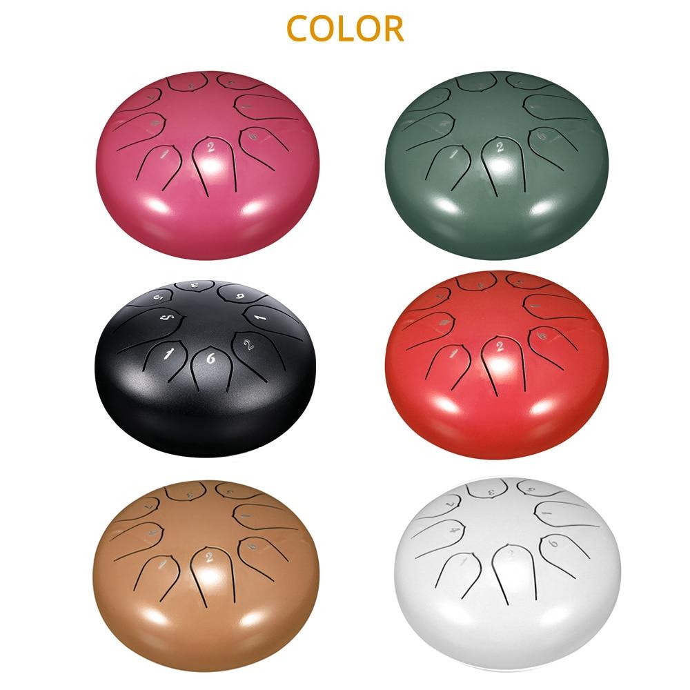 Lengua de acero baqueta de tambor cinturón para tambor dedo pistolera Yoga meditación 6 pulgadas 8 Tono de acero lengua tambor conjunto de instrumentos musicales