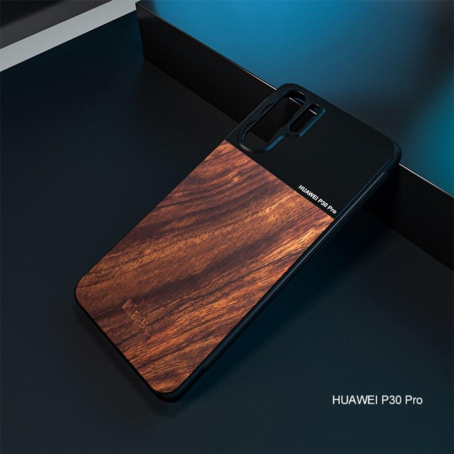 Kase الهاتف المحمول عدسة خشبية + سبائك الألومنيوم حامل حافظة لهواوي ماتي 40 20 P30 P40 P20 برو P10 و 17 مللي متر الهاتف الذكي عدسة