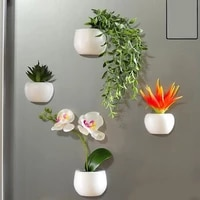 Simulation Plant Refrigerator Magnets Bonsai Succulent Plant Magnet Button Potted Plant Refrigerator Sticker Home Decoration