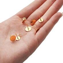 2 / 10pcs Earrings For Women Steel Needle Flat Earrings Material Hypoallergenic Diy Handmade Jewelry