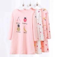 girls night dress kids nightgowns for girls teenagers long sleeve autumn sleeep dresses sleepwear 5 18y children pajamas