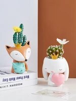 nordic creative small animal flowerpot furnishings simulation succulents potted decorations home bedroom mini furnishings pots