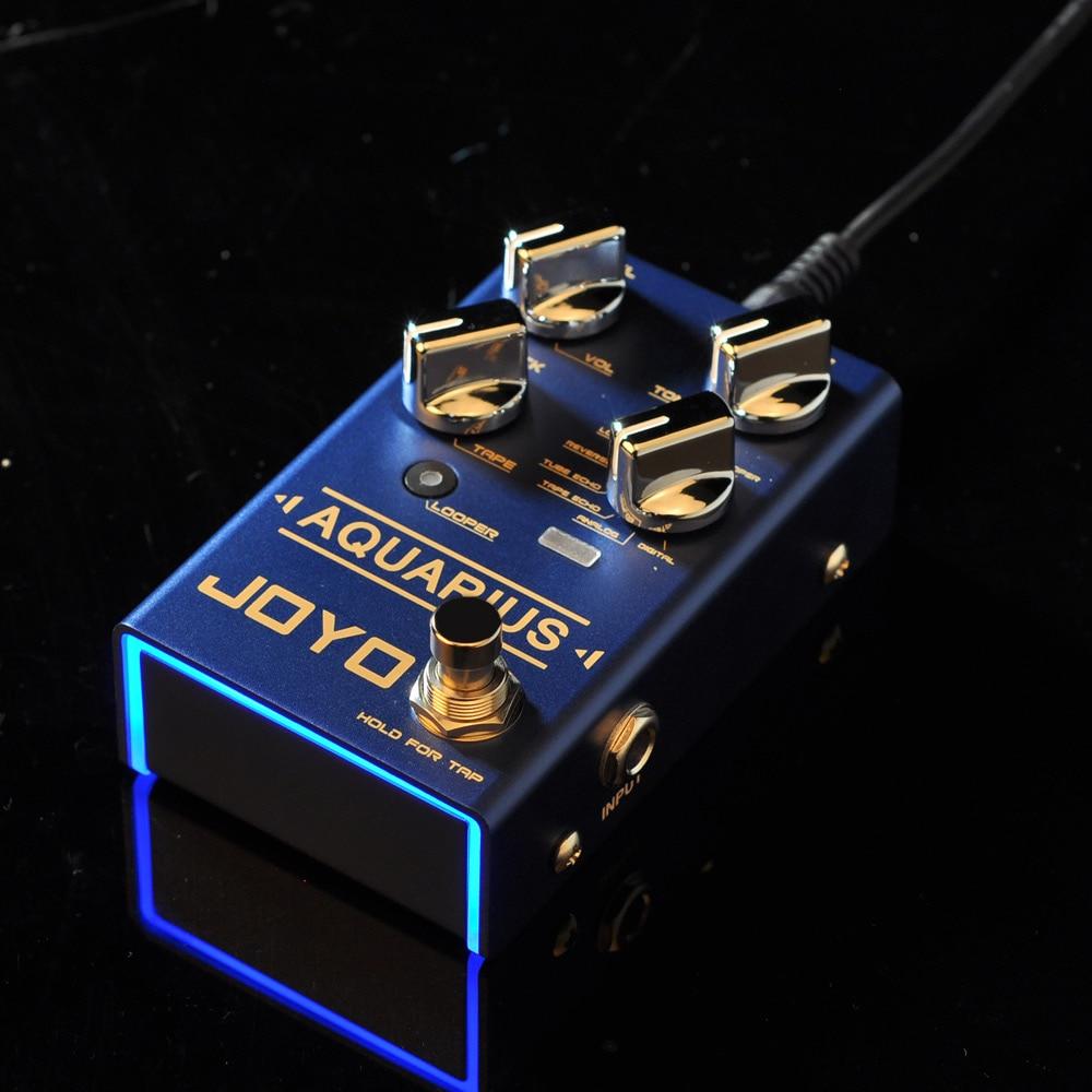 Joyo R-07 Aquarius Delay Looper Electric Pedals Footswitch Guitar Pedal Parts Accessories Effects Looper Digital Delay Pedal enlarge
